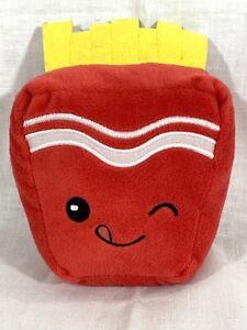 """Russ """"Make Someone Happy"""" Plush Stuffed Snackeez Fryler Fries Toy 6.5"""" Tall 5"""" W"""