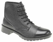 Grafters Black Cadet Army Combat Mens Work Parade Leather Boots UK4-12
