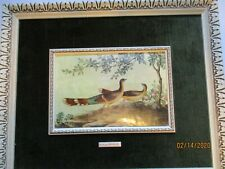 Vintage P. R. de aranjuez convex bird print. framed