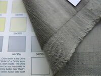 "BY YARD SCALAMANDRE PERSIA LINEN VELVET ""SMOKE"" GREY HEAVY DUTY MSRP$198"