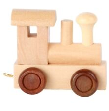 Wooden Train Engine , Waggon Carriage & 3 Letters (A, H & I) By Buchstaben