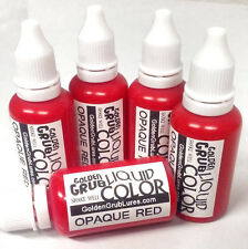NEW 1 OZ. OPAQUE RED Liquid Color Dye Fishing Soft Bait Lure Making plastisol