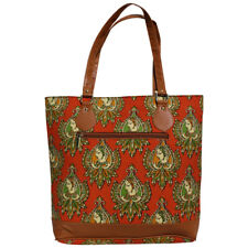 Swank Bags Iktat cotton bag, Outside small pocket with zipper closure AB-CB03