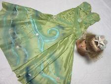 Mermaid sea NYMPH Siren costume dress size 6 shell crown cosplay goddess green
