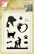 Joy Crafts - Clear Cling Stamp Dogs & Kittens 9pcs 6410/0400