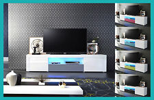 Meuble tv salon design laqué blanc noir gris rouge bordeaux rose chêne bois etc