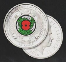New Zealand  - ARMISTICE - 2018 50c Coloured Coin - Mint, Uncirculated