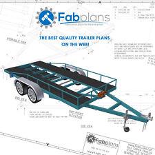 2500kg Car Trailer Plans - 14'x6' DIY car trailer plans with car ramps! A3+CDROM