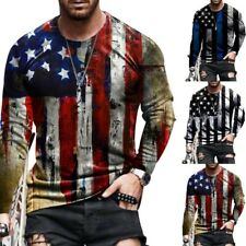 Men Tops 3D Clothes Design Flag Printed Polyester Sport Supply Fashion