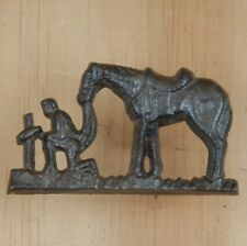 Cast Iron ~ PRAYING COWBOY ~ Home Decor ~ Upholstery Craft Tack Nail ~ by PLD