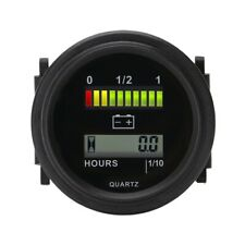 Round Lcd Hour Meter with Led Battery Indicator Gauge Gauge 12V 24V 36V 48V 72V