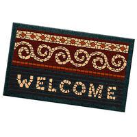 Zerbino moderno WELCOME 40X70 cm tappeto mosaico stuoia gomma asciugapassi
