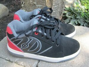 Heelys Propel 2.0 Boys Youth Size 5 Red & Black Skater Lace Up Shoe