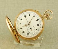 Museum GOLD ¼ Repetition Chronograph Taschenuhr Uhr repeater watch Schlagwerk