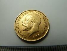 More details for 1913 gold half sovereign coin - king george v