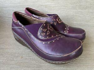 L'Artiste Spring Step Burbank Women's Leather Clog Shoes, Size 41
