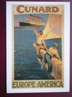 POSTCARD CUNARD - EUROPE - AMERICA (1)