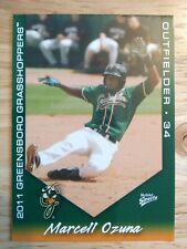 Marcell Ozuna 2011 Multi-Ad Greensboro Grasshoppers Minor League Rookie Braves