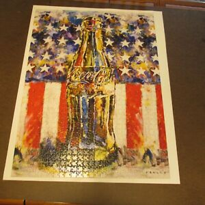 Coca-Cola Red White & You American Flag & Coke Jigsaw Puzzle with Poster