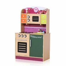 Kids Wooden Play Kitchen Children Cooking Pretend Role Play Toy Pink Baby Vivo