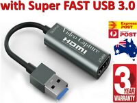 HDMI Video Capture Card USB 3.0 1080p HD Recorder for Video Live Streaming Game