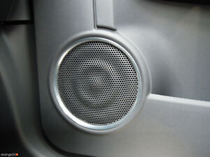 FIAT 500 500C Aluringe Alu Lautsprecher CABRIO ABARTH SPORT