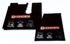 Kenworth OEM Black Rubber Floor Mats wLogo -07/2005 & up-T600 660 800 W900 C500
