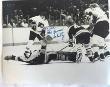 Philadelphia Flyers Dave The Hammer Schultz Bobby Orr Autographed Photo