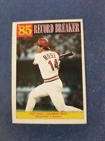 PETE ROSE 1986 TOPPS RECORD BREAKER CARD #206 CINCINNATI REDS