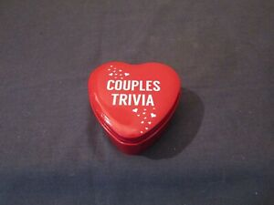 COUPLES TRIVIA TIN 28 QUESTION CARDS TO PLAY WITH YOUR LOVED ONE.