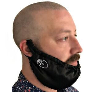 BEARD GAINS XL LARGE BIB BANDANA RAG NET COVER - MENS FACIAL HAIR SLEEP SNOOD