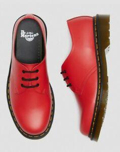 BRAND NEW IN BOX! Dr Martens 1461 Satchel Red Smooth Shoes