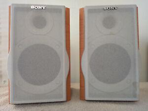 Sony SS-CEP313 Set Of 2 Wood Case Bookshelf Speaker System - Tested