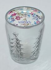 1 BATH & BODY WORKS WINTER SCENTED CANDLE MEDIUM 6 OZ SILVER TREES WHITE BARN