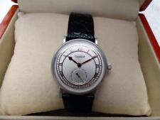 $12K Schaumburg Classoco 18K 750 Solid White Gold Mens Watch with ♛ Rolex Strap