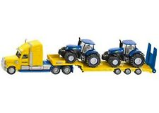 SIKU Truck with 2 New Holland Tractors 1:87 Scale die-cast toy NEW model # 1805