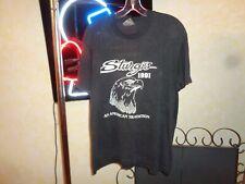 New listing 90s L/Xl Vtg 1991 Sturgis Black Hills Biker Motorcycle Rally faded t-shirt 2-sid