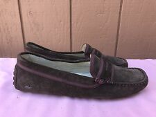 daa3e8d9321292 MINT Womens Lacoste Loafers Concours 3 Clw Suede Moccasins Brown US 8.5 EUR  40