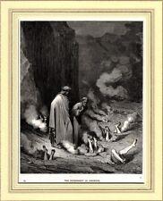 INFERNO: PENA PER CHI FA COMMERCIO DI COSE SACRE.Doré.Dante.Divina Commedia.1890
