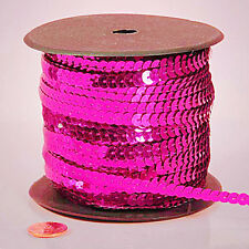 6 yards 6mm Hot Pink Sequins Ribbon Trim