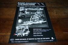 RAGE AGAINST THE MACHINE - Publicité de magazine / Advert !!! 20 ANS !!! 2