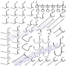 """(50) Universal Pegboard Organizer Hook Assortment Set 1/8"""" x 1"""" Home Shop Garage"""