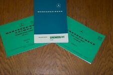 Mercedes-Benz Unimog 411 Service and Parts Literature Pack 3 Booklets - NEW