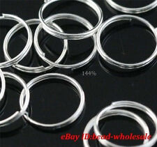 Wholesale Lots 100pcs Silver Plated Split Rings 12mm