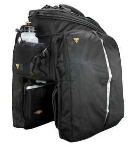 Topeak MTX TrunkBag DXP Rack Bag with Expandable Panniers: 22.6 Liter, Black
