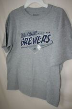 "MILWAUKEE BREWERS - GRAY TEE SHIRT from ""STITCHES""  YOUTH LARGE  NWT   LICENSED"