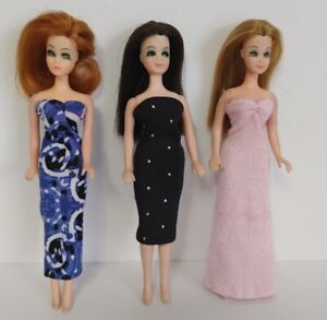 DAWN DOLL CLOTHES Lot of 3 Dresses - Fashions NO DOLLS dolls4emma - Lot B