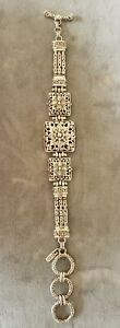 SARDA collection of Bali sterling silver toggle clasp floral design bracelet NEW
