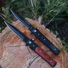 """Italian Style Stiletto Knife 4"""" Blade Flipper Knife Folding Knife"""