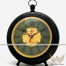 VINTAGE NAUTICAL WOODEN TABLE CLOCK OFFICE & HOME TABLE DECORATIVE ITEM
